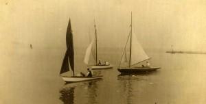 Weymouth Corinthian Sailing Club 1908.  (L to R.  Waterwitch, Clara and Argula)