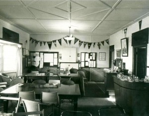 The old clubroom in 1936 - 73 looking East.