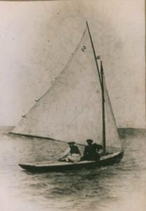 Dr & Mrs Cunningham in Olenda, Weymouth Corinthian YC 1902