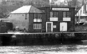 Wemouth Sailing Club in 1936 after building the new clubroom. The left-thand end dates from 1830 and the Longshed from 1923