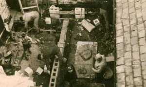 Members laying the foundations for the first Ladies changing Room (The Hen House) 1931 - 32